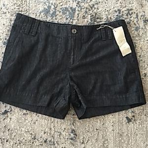 Ann Taylor Loft dark wash Jean shorts size 8 NWT